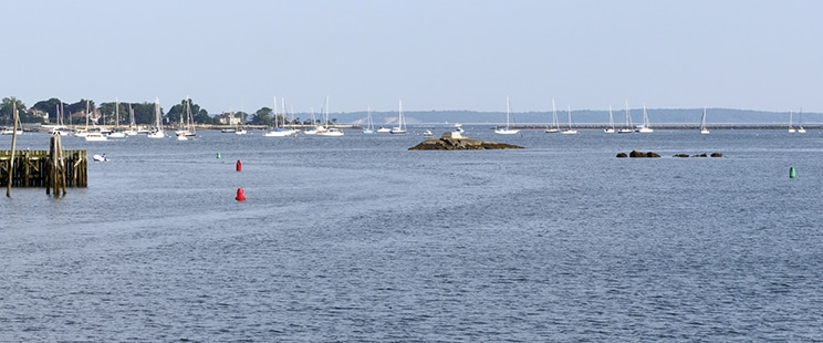 Sailboats on the Long Island Sound